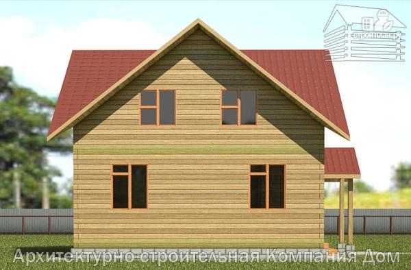 Фото 7: проект деревянный дом 8х8 с крыльцом