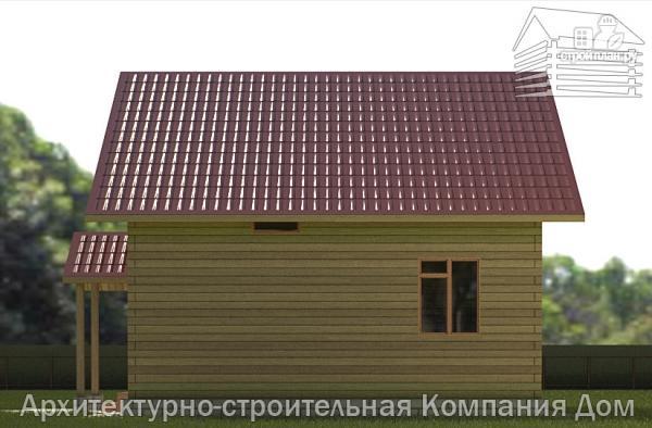 Фото 5: проект деревянный дом 8х8 с крыльцом