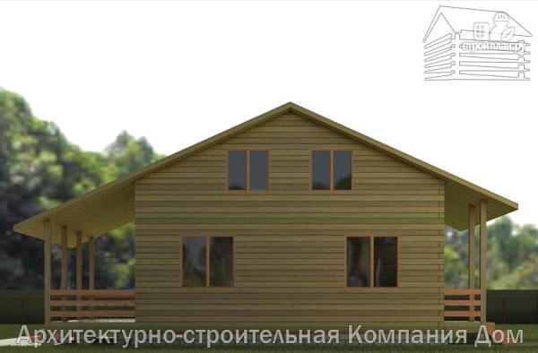 Фото 5: проект деревянный дом 8х11 с террасой