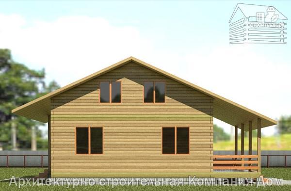 Фото 7: проект деревянный дом 8х11 с террасой