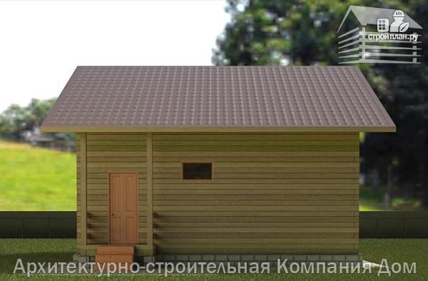 Фото 6: проект деревянный дом 8х11 с террасой