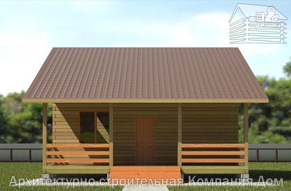 Фото 4: проект деревянный дом 8х11 с террасой