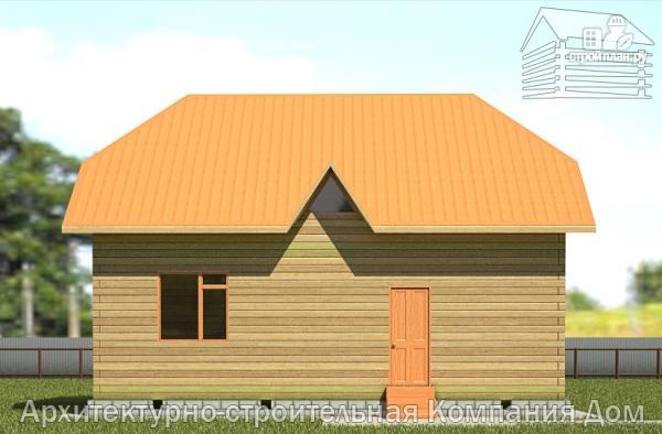 Фото 7: проект дом из бруса с вальмовой крышей и эркером