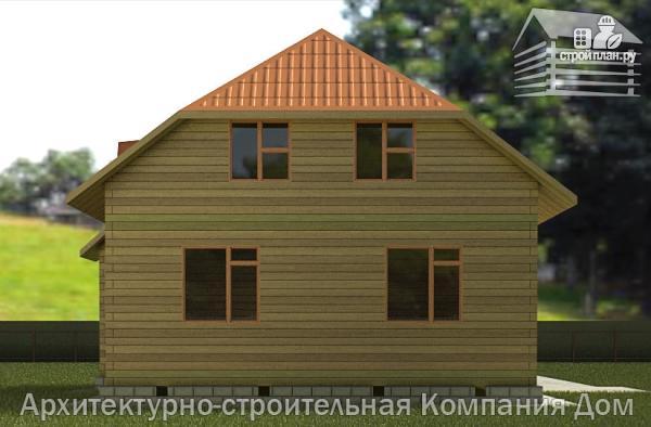 Фото 6: проект дом из бруса с вальмовой крышей и эркером