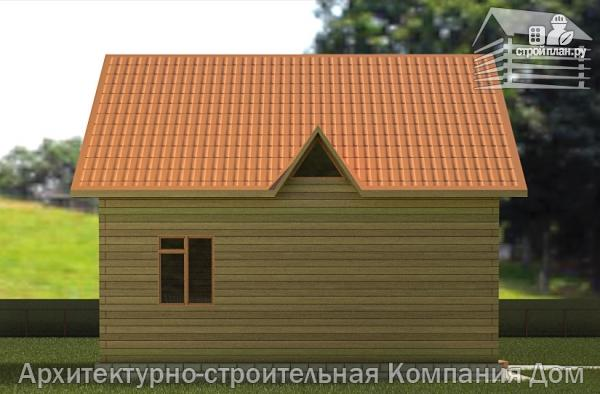 Фото 6: проект дом из бруса 8х8,5 с террасой, балконом и эркером