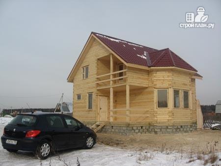 Фото 10: проект дом из бруса 8х8,5 с террасой, балконом и эркером