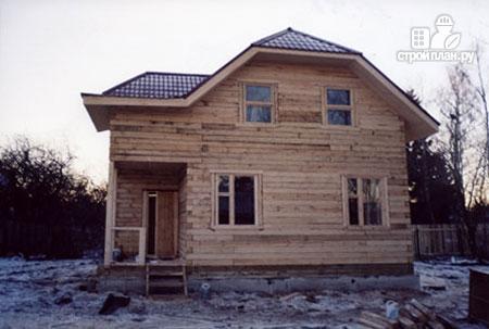 Фото 9: проект дом из бруса 8,5х8,5 с крыльцом и верандой