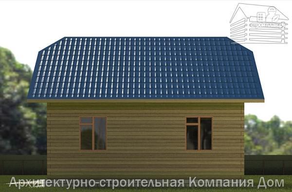 Фото 5: проект дом из бруса 8,5х8,5 с крыльцом и верандой