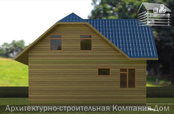 Фото 6: проект дом из бруса 8,5х8,5 с крыльцом и верандой