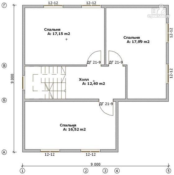 Фото 3: проект дом из бруса 9х9 с большой террасой, для углового участка