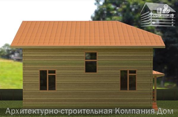 Фото 6: проект дом из бруса 9х9 с большой террасой, для углового участка