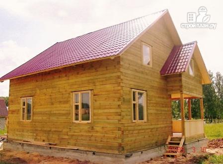 Фото 9: проект деревянный дом с террасой