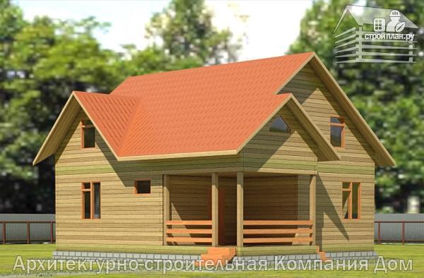 Фото: проект деревянный дом с террасой