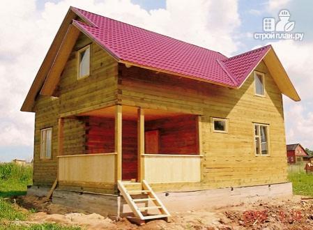 Фото 8: проект деревянный дом с террасой