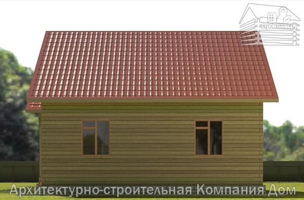 Фото 5: проект деревянный дом с террасой