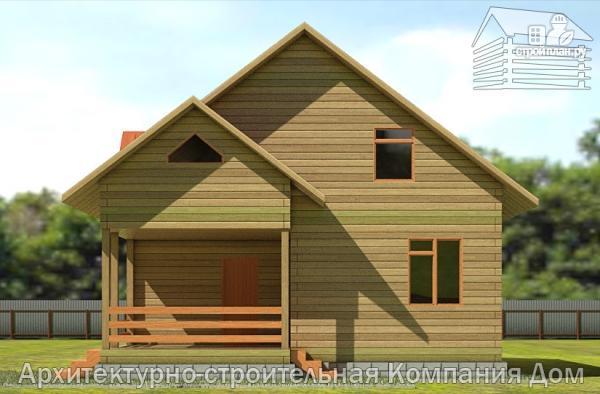 Фото 4: проект деревянный дом с террасой