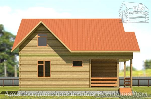 Фото 7: проект деревянный дом с террасой