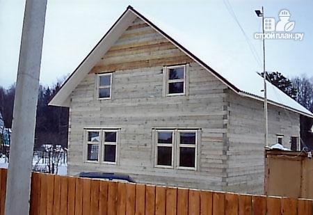 Фото 8: проект дом из бруса 8х10 с балконом и террасой