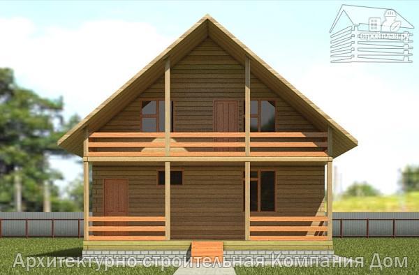 Дома из бруса с балконом и верандой..