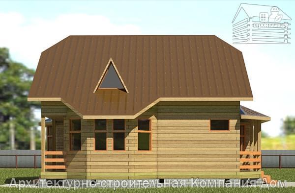 Фото 7: проект брусовой дом с лоджией и эркером