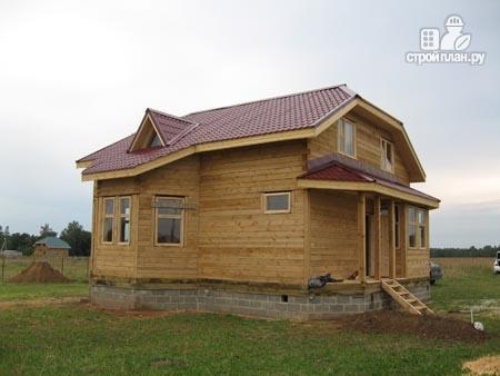 Фото 8: проект брусовой дом с лоджией и эркером