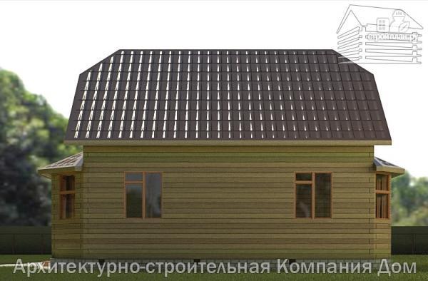 Фото 5: проект брусовой дом с лоджией и эркером