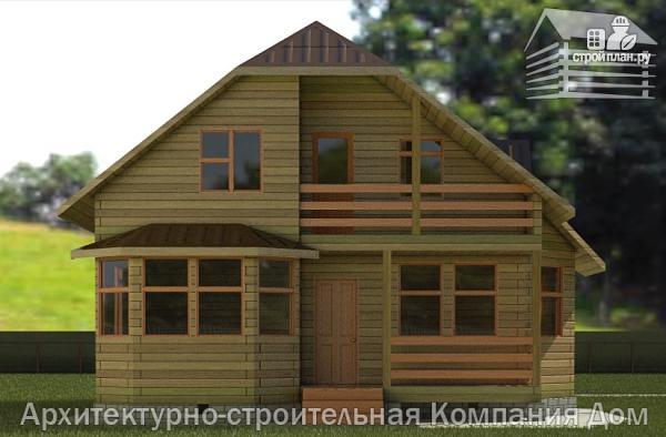 Брусовой дом с лоджией и эркером, проект 10.85 х 8.3 а.