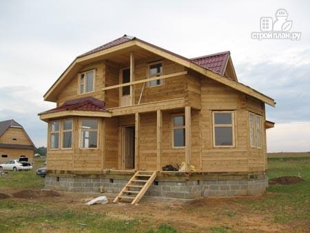 Фото 9: проект брусовой дом с лоджией и эркером