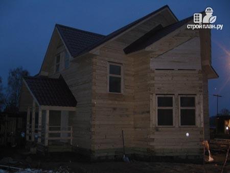 Фото 8: проект деревянный дом с крыльцом и эркером