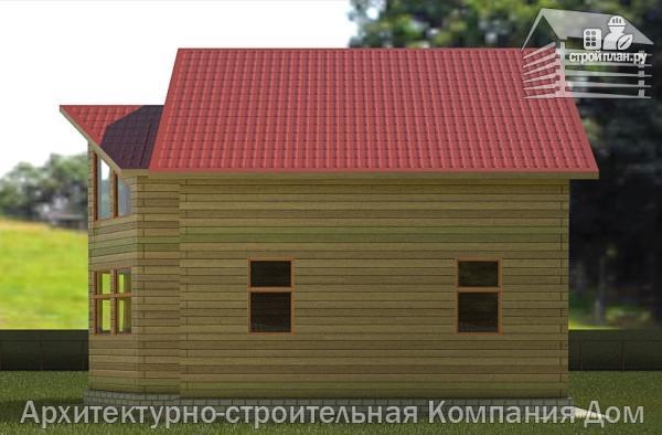 Фото 6: проект деревянный дом с крыльцом и эркером
