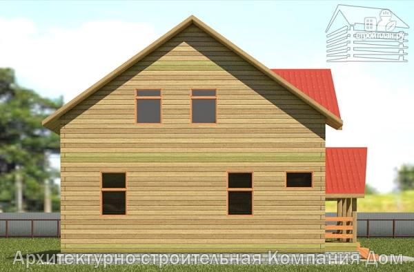 Фото 7: проект деревянный дом с крыльцом и эркером