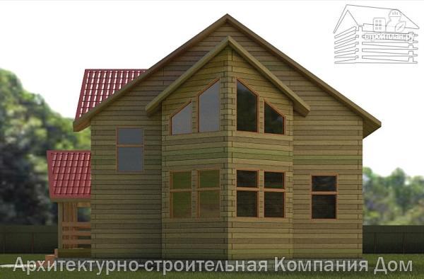 Фото 5: проект деревянный дом с крыльцом и эркером