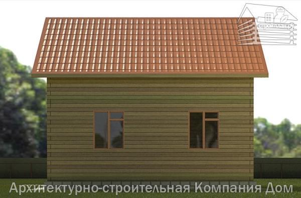Фото 5: проект дом из бруса 8х9 с мансардным этажом