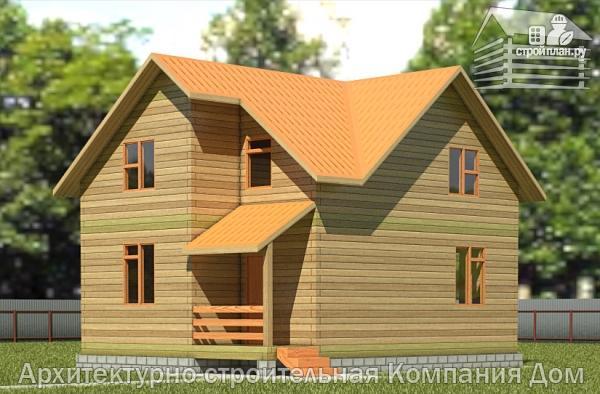 Фото: проект дом из бруса 8х9 с мансардным этажом