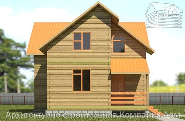 Фото 7: проект дом из бруса 8х9 с мансардным этажом
