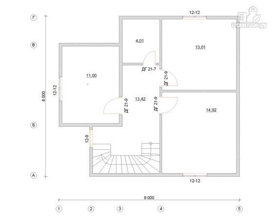 Фото 3: проект дом из бруса 8х9 с мансардным этажом