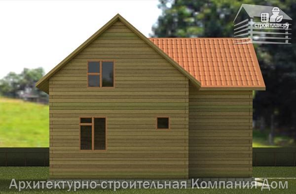 Фото 6: проект дом из бруса 8х9 с мансардным этажом