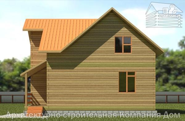 Фото 4: проект дом из бруса 8х9 с мансардным этажом