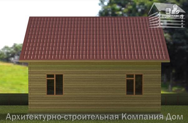 Фото 6: проект деревянный дом 8,5х9 с балконом в мансарде