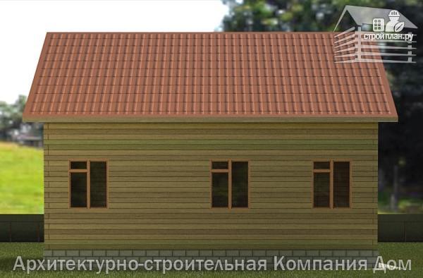 Фото 6: проект дом из бруса 9х10 с балконом и террасой