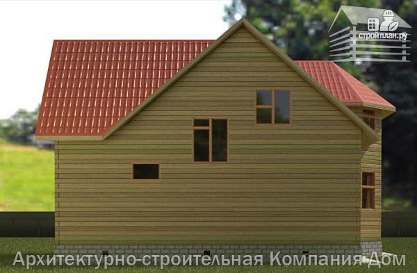Фото 6: проект дом деревянный 9х10 с мансардой и эркером в гостиной