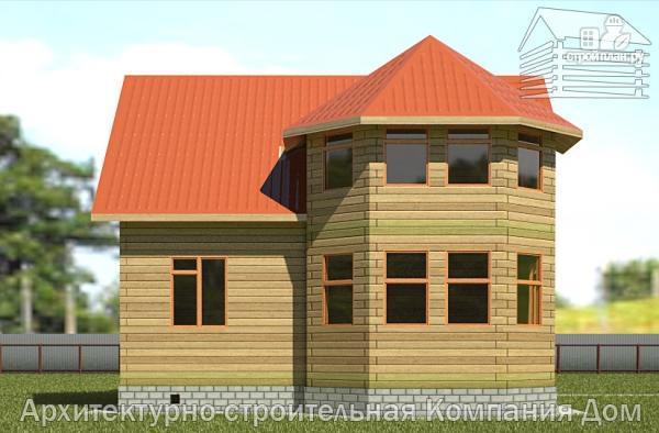 Фото 7: проект дом деревянный 9х10 с мансардой и эркером в гостиной