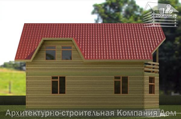 Фото 6: проект дом из бруса 11х11 с угловой террасой и балконом