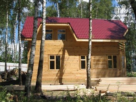 Фото 10: проект дом из бруса 11х11 с угловой террасой и балконом