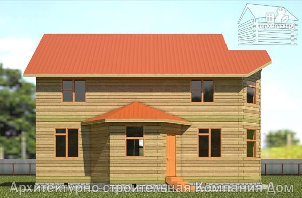 Фото 7: проект дом из бруса 9х11 с эркерами в кухне и гостиной