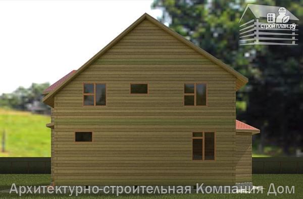Фото 6: проект дом из бруса 9х11 с эркерами в кухне и гостиной