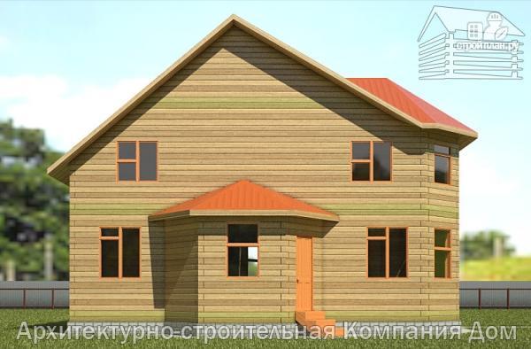 Фото 7: проект дом деревянный 9х11 с балконом и террасой