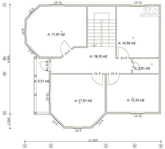 Фото 3: проект дом деревянный 9х11 с балконом и террасой