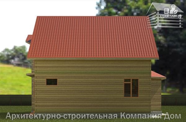 Фото 6: проект дом деревянный 9х11 с балконом и террасой