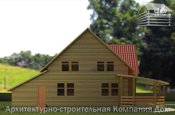 Фото 6: проект деревянный дом 10х13 с террасой, балконом и гаражом